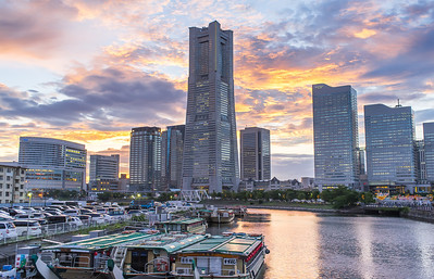 Yokohama Landmark Tower Sunset