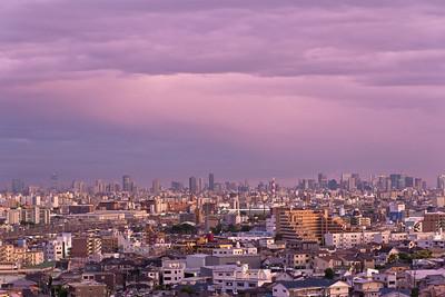 Osaka Sunset Clouds