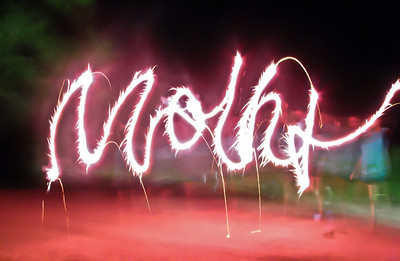 Cursive Firework Writing