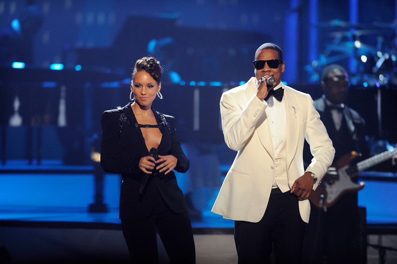 2009 American Music Awards held on Sunday November 22, 2009 at the Nokia Theatre l.A. Live. Show Alicia Keys and Jay z