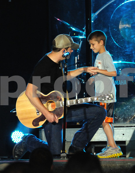 """RODNEY ATKINS AND SON -- Share a moment after performing the song """" watching you """" for the first time.....<br /> <br /> Do not duplicate without express written permission of Creator...."""