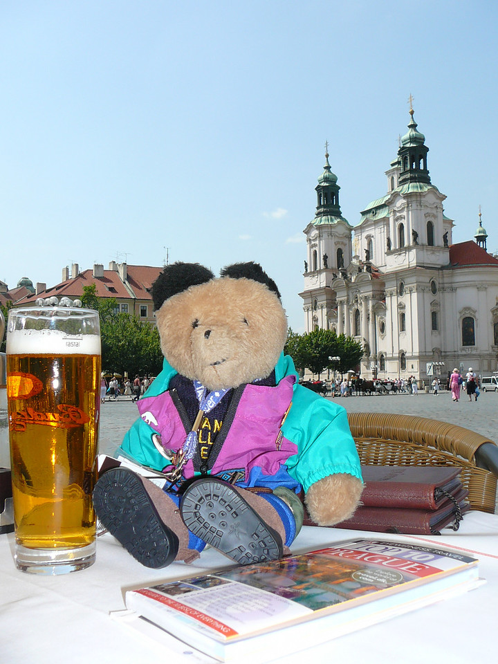 Paddington Bear - First Friend of IFTA  enjoying the sights of Prague