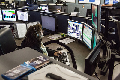 Comm center Working during big winter storm(By Brandon Barsugli)