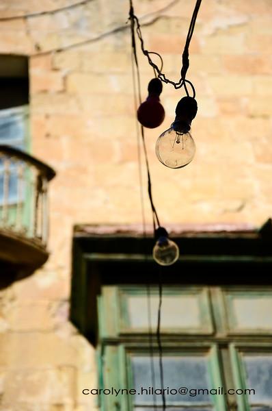 Bulbs Dangling<br /> Valletta, Malta