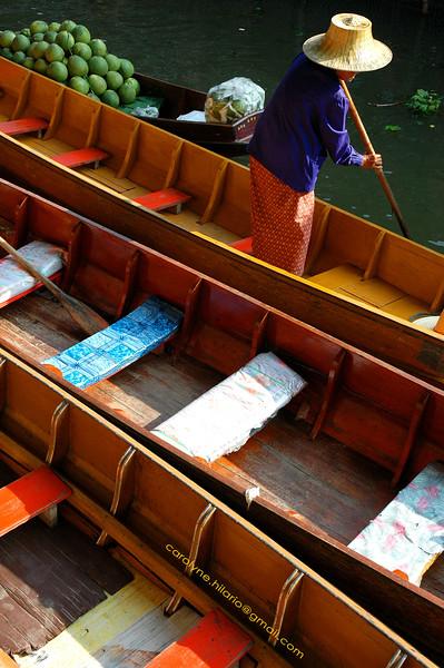 Longtail Seats<br /> Damnoen Suduak, Thailand