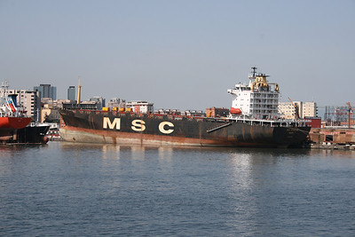 2008 - M/S MSC MIRELLA docked in Napoli for works.