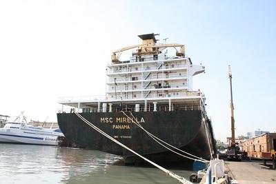 2008 - M/S MSC MIRELLA docked in Napoli for works.
