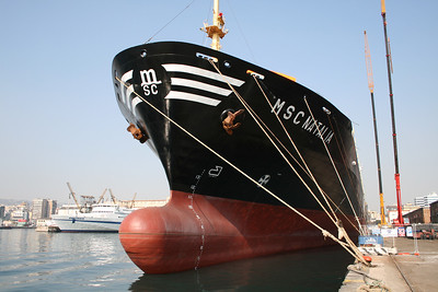 2008 - M/S MSC NATALIA docked in Napoli for works, after repainting.