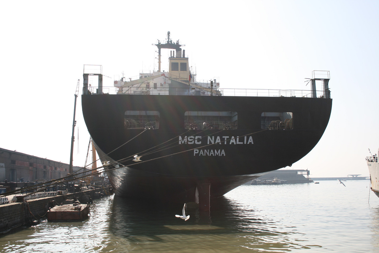 2008 - M/S MSC NATALIA docked in Napoli for works.