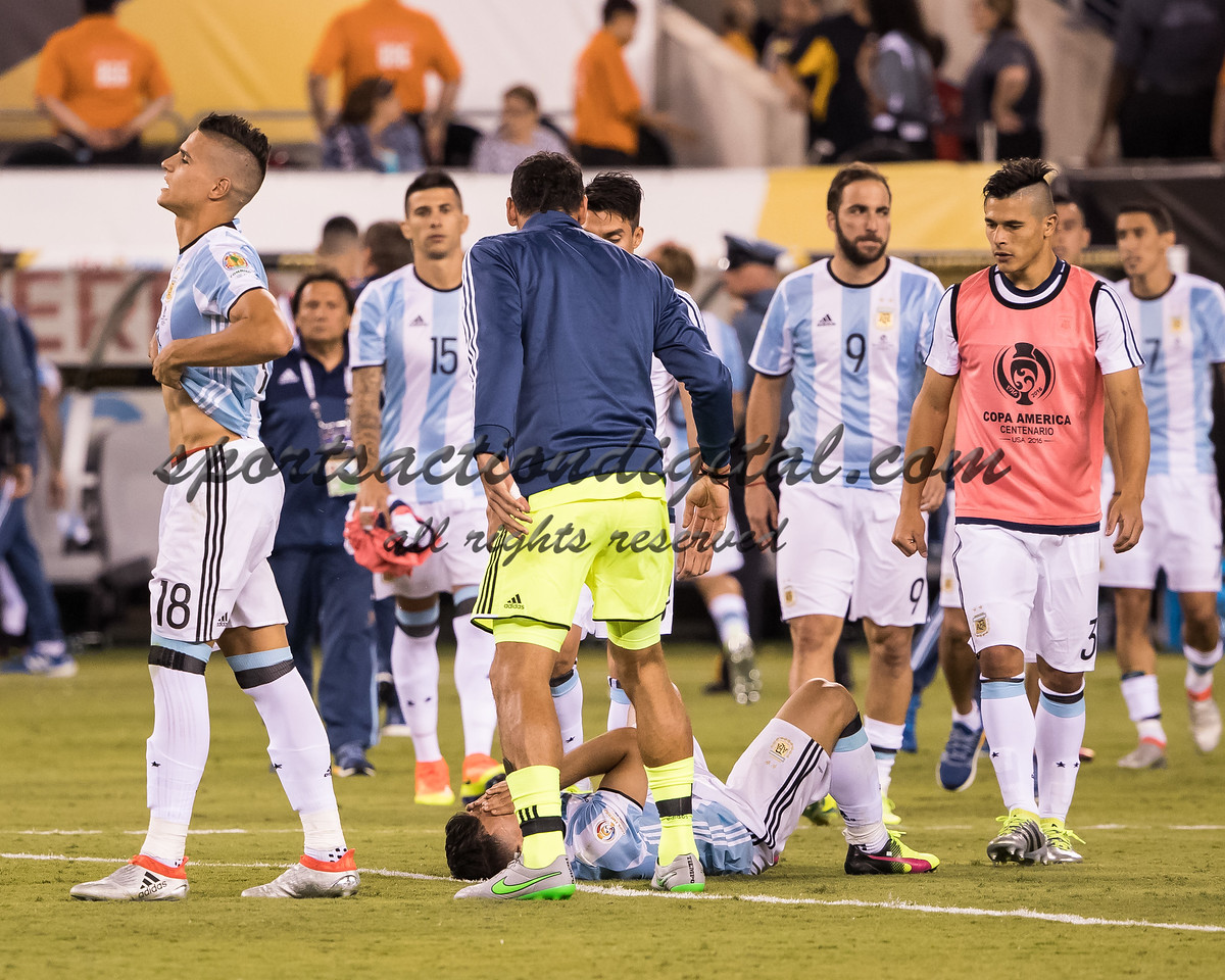 Argentina players after the loss