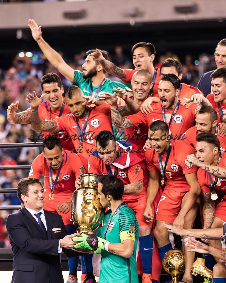 Presentation of the Copa America Trophy