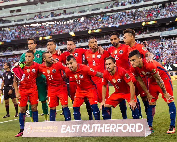 Chile starting XI