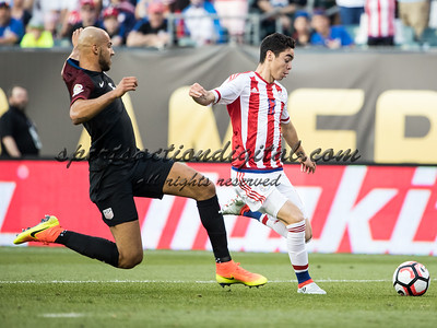PHILADELPHIA, PENNSYLVANIA - June 11, 2016: Copa America Centenario USA 2016.  USA vs Paraguay in a match at Lincoln Financial Field.  Final score USA 1, Paraguay 0.