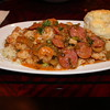 ANDOUILE SAUSAGE AND SHRIMP OVER RICE