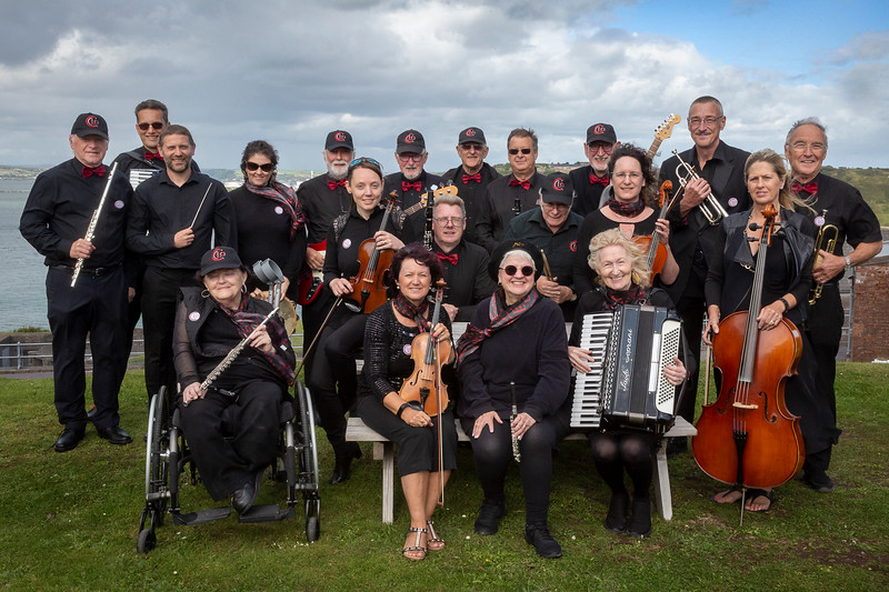 10/08/2019  On Spec  Social   Pictured at Fort Camden Meagher , Crosshaven, Cork ,  The members of  Cork Light Orchestra after a rousing performance before visitors to   Fort Camden Meagher, Crosshaven on Sunday.  Picture: Andy Jay