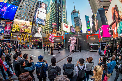 LG Twin Wash Launch, Times Square NYC