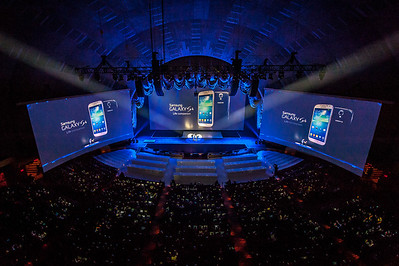 World Launch of the Samsung Galaxy S4, Radio City, New York