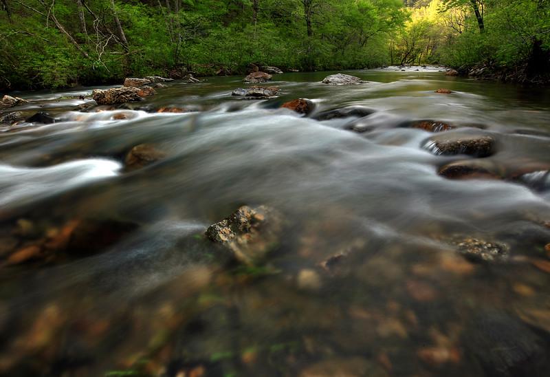 Chasing the light - Cossatot River