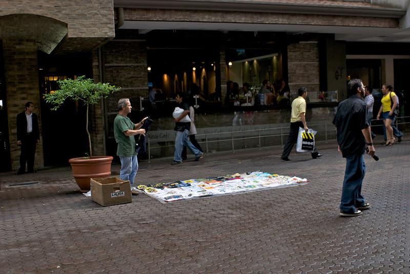 T-shirt Vendor Outside Presidente Hotel