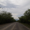 Th road towards La Cruz rose sharply and it was tough in the  heat and humidity