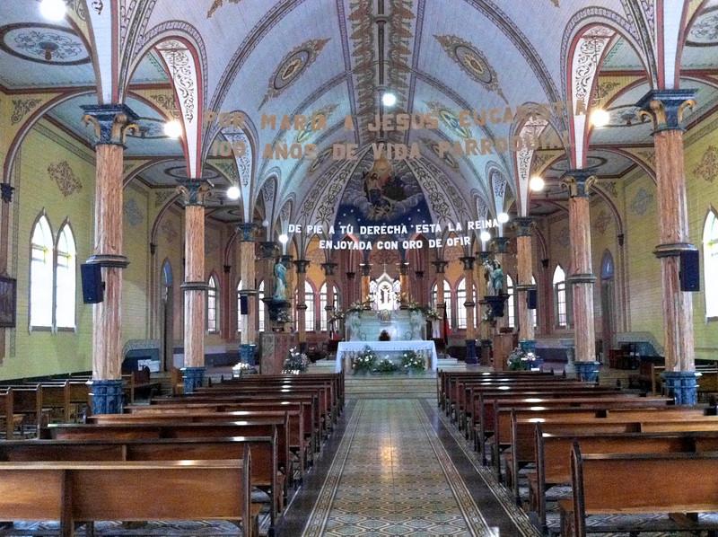 Interior of Iglesia de la Nuestra Señora de las Mercedes, Grecia, Costa Rica