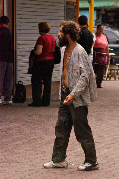 Homeless Man Avenida Central