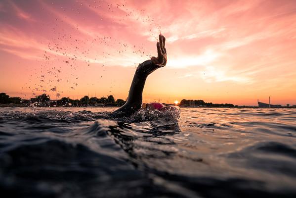 Sunset Swimming Session