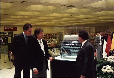 Michael & Mario Andretti along with Eddie Cheever check out their new power plant