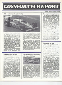 The Cosworth report drawn up by Larry Slutter for some early PR