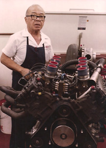 Chici Hiroshima an early Cosworth Engine wizard, who work at VPJ with Larry. Chici taught me how to build DFX's his way before he died of cancer a few months later.