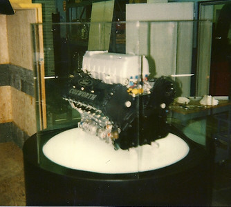 For the introduction of the XB at the Indianapolis Speedway museum we were concerned about detailed pictures of the engine getting out. I had this hexagonal perspex cover made to try and obscure shots but not too effective!