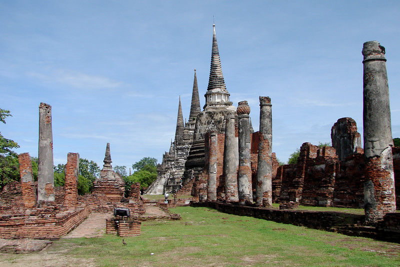 Buildings in Ayutthaya, Thailand