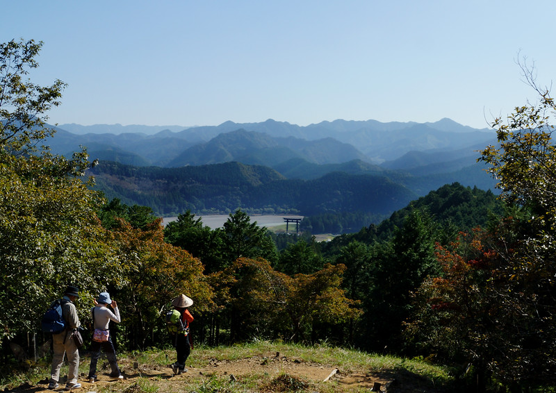 View towards Hongu from Kumano Kodo Trail