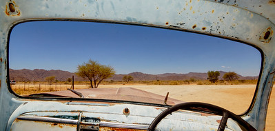 View Through a Ford Pickup Windscreen