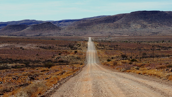 Long Road in Namibia