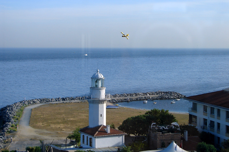 Yeşilköy Feneri Lighthouse and  Turkish Fire Seaplane