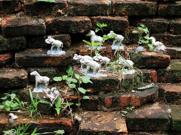 Ayutthaya  (อยุธยา) - Model Elephants and Horses