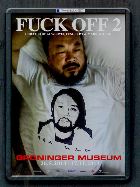 Poster for Ai Weiwei at The Groninger Museum, Amsterdam
