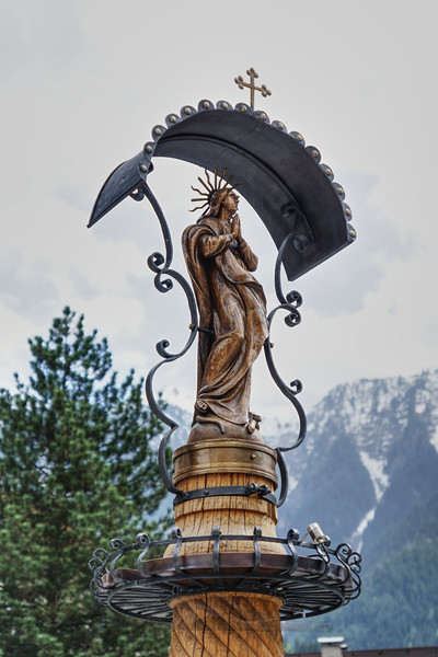Sculpture on Drinking Fountain in Mayrhofen
