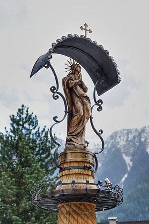 Sculpture on Drinking Fountain in Mayrhofen