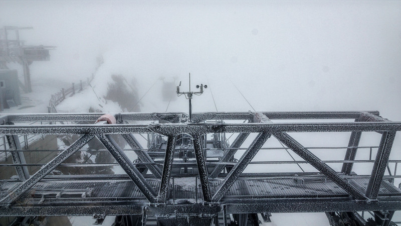 White Out at Gletscherbus III Bergstation 3