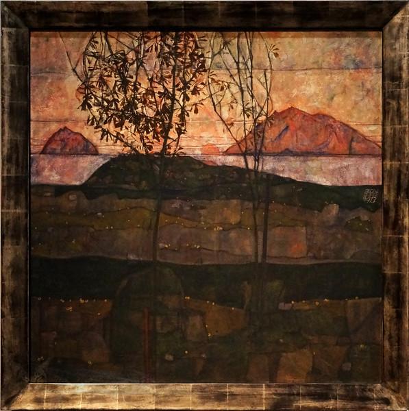 Setting Sun - Egon Schiele