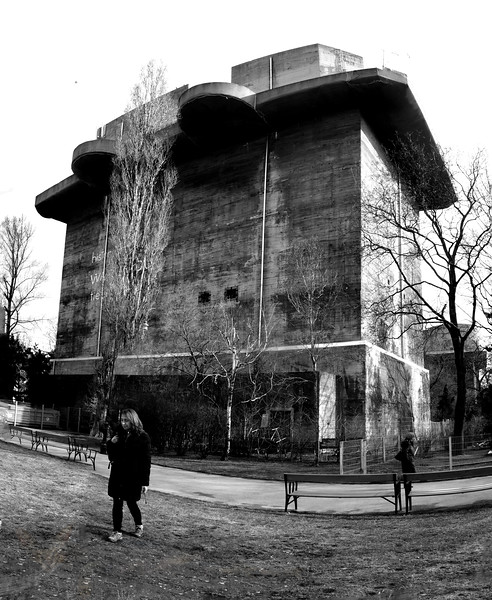 World War 2 Artillery Tower in Vienna