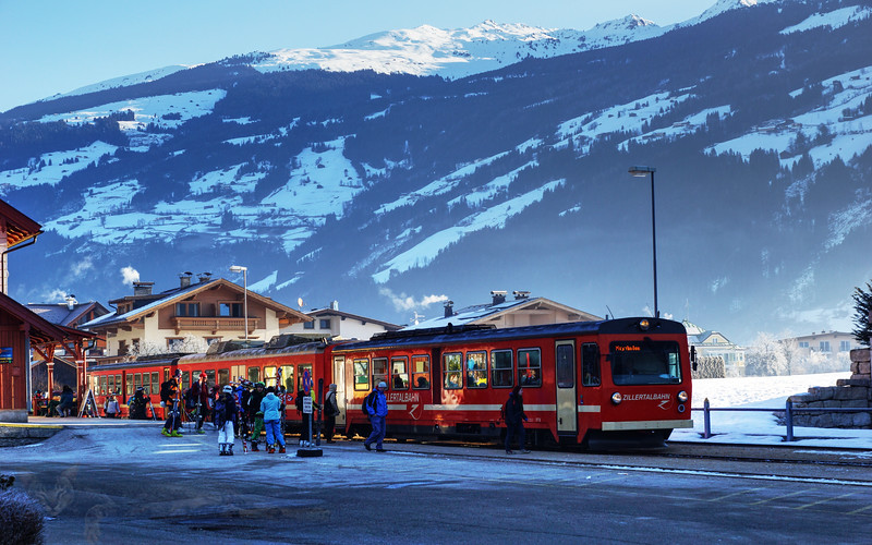 Train in Zell am Ziller - Austria