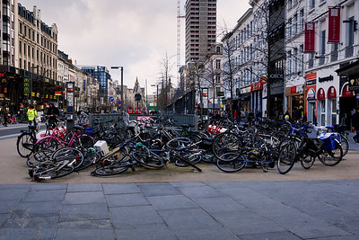 Bicycle Chaos near Antwerp Centraal