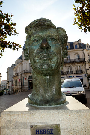 Bust of Herge (Tin Tin) in Angouleme