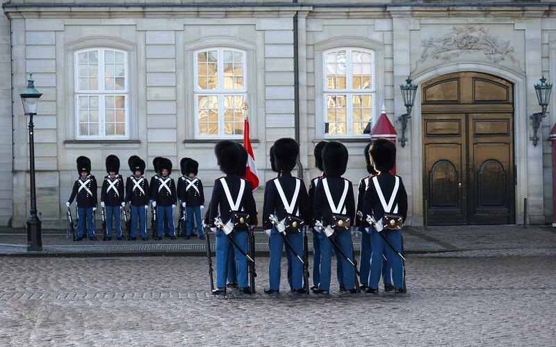 Changing the Guard at Amalienborg Palace