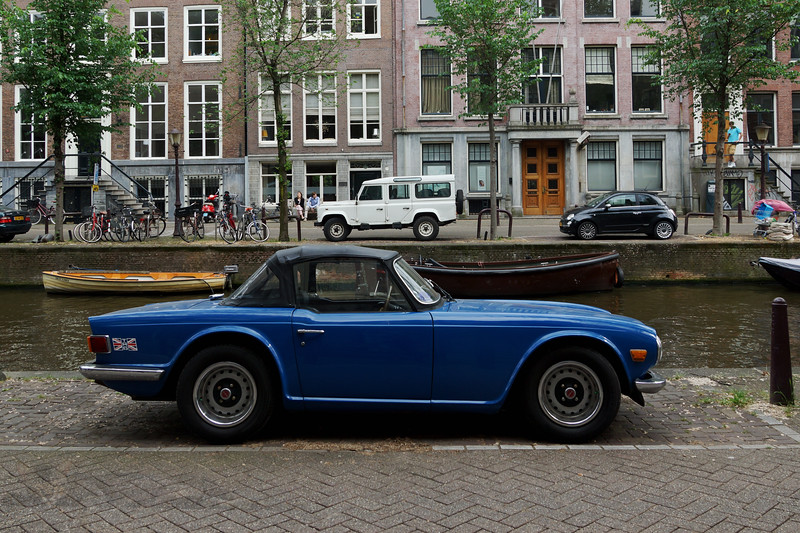 Triumph TR6 by the Canal