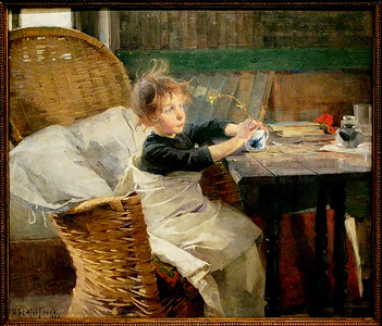 Helene Schjerfbeck - A Little Convalescent