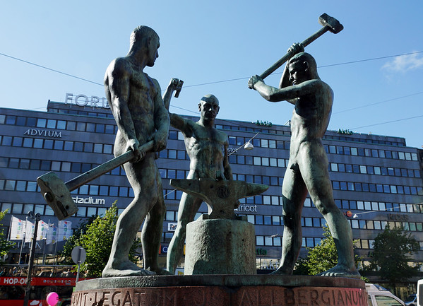 Three Smiths Statue - Helsinki